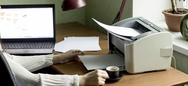Printing documents from your computer to your printer in the Office background